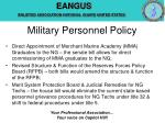 military personnel policy7