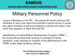 military personnel policy9