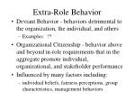 extra role behavior