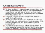check out emily