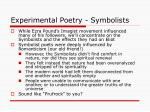 experimental poetry symbolists