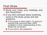 final straw