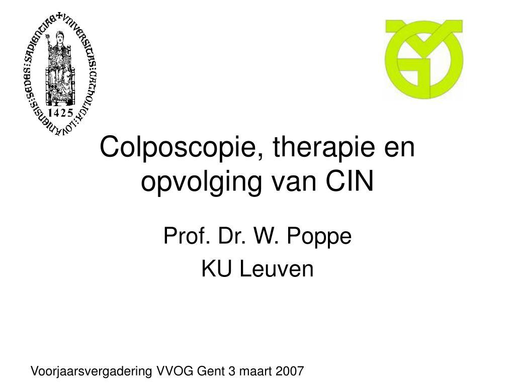 colposcopie therapie en opvolging van cin l.