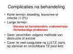 complicaties na behandeling