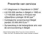 preventie van cervixca