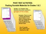 post test activities packing scorable materials for grades 1 2
