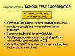 post test activities school test coordinator31