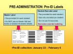 pre administration pre id labels16