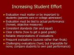 increasing student effort