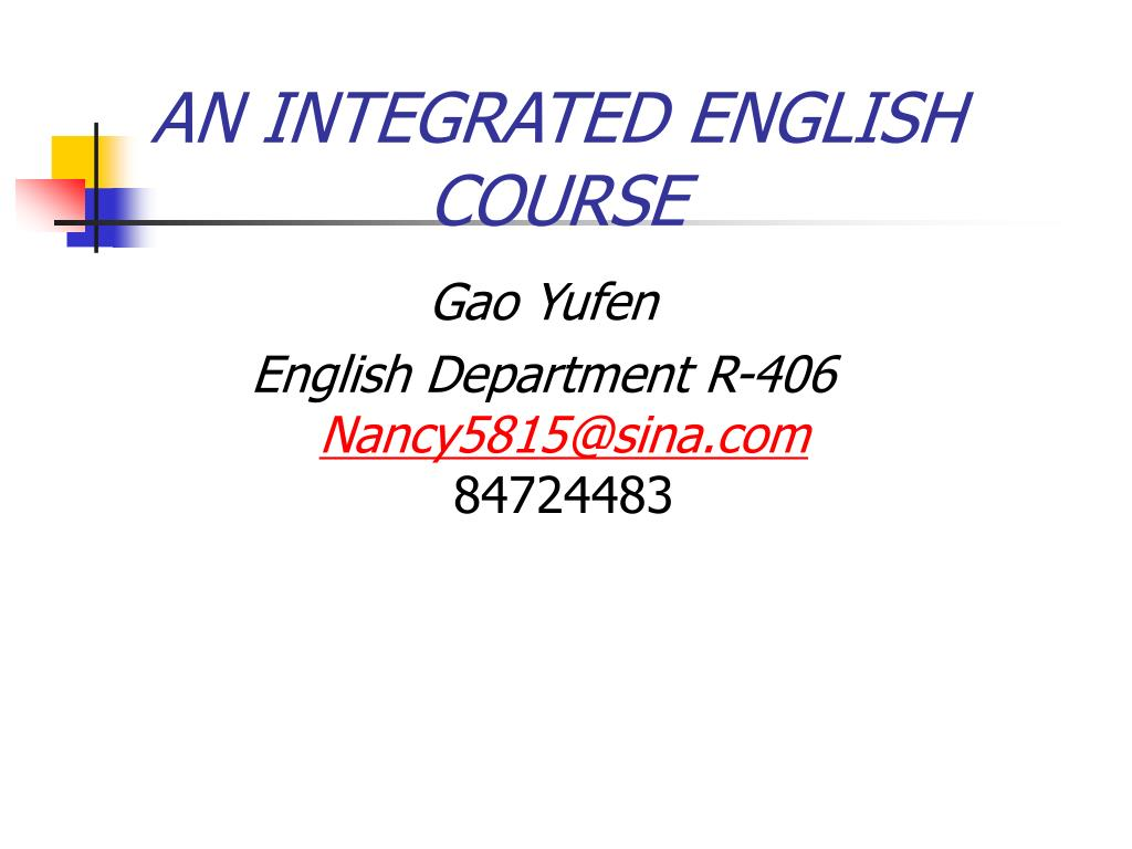 an integrated english course l.