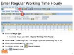 enter regular working time hourly36