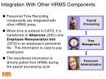 integration with other hrms components