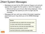 zalert system messages