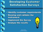 developing customer satisfaction surveys