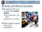 brands and brand symbols