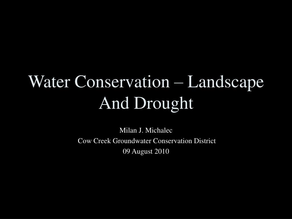 water conservation landscape and drought l.