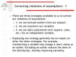 correcting violations of assumptions 1
