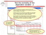 test the normality of the dependent variable 2