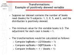 transformations example of positively skewed variable