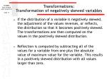 transformations transformation of negatively skewed variables