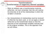 transformations transformation of negatively skewed variables18