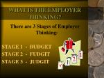 what is the employer thinking