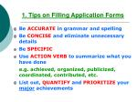 1 tips on filling application forms
