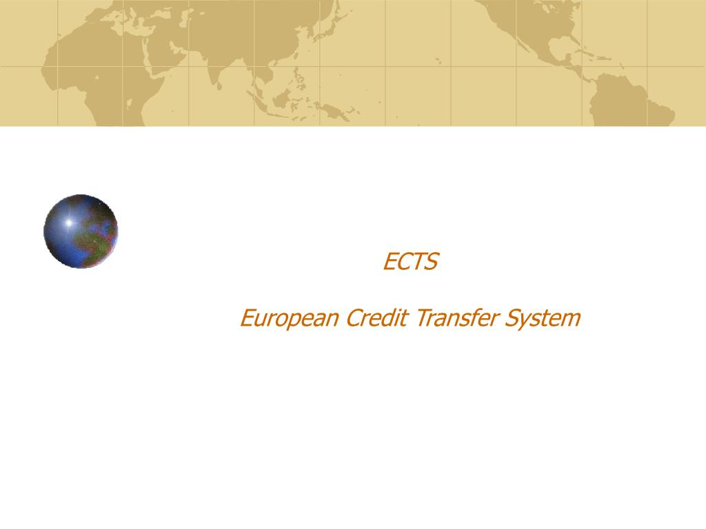 ects european credit transfer system l.