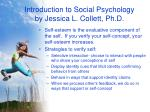 introduction to social psychology by jessica l collett ph d