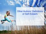 other authors definitions of self esteem