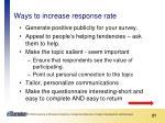 ways to increase response rate