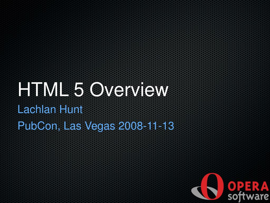 html 5 overview l.