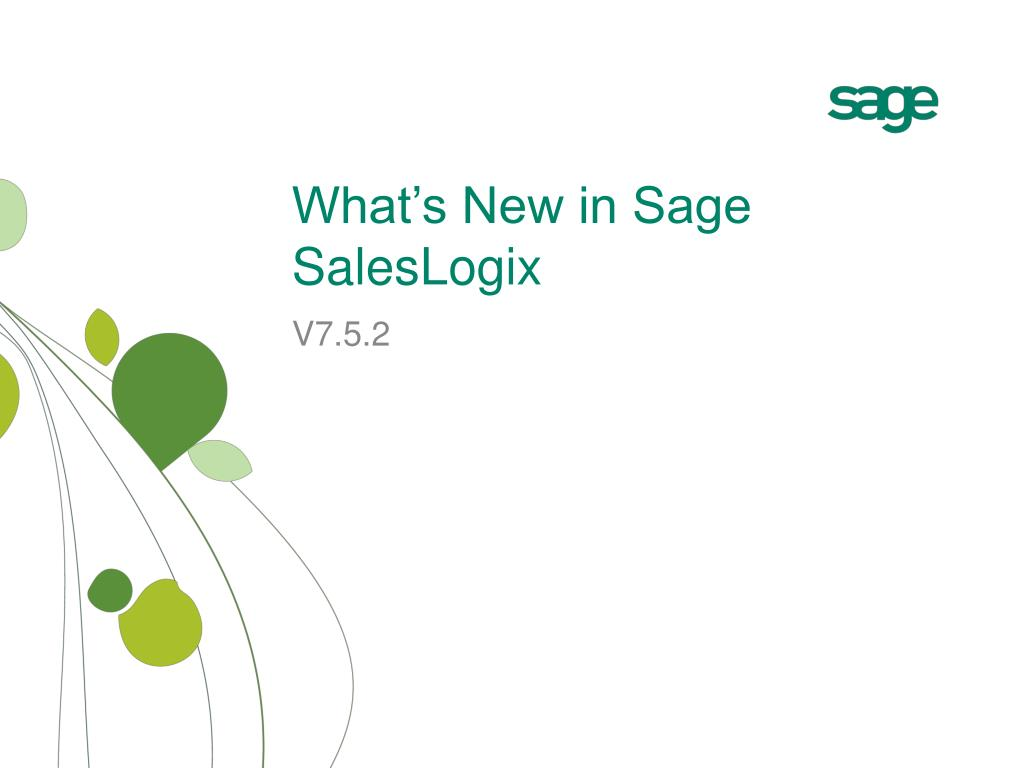 what s new in sage saleslogix l.