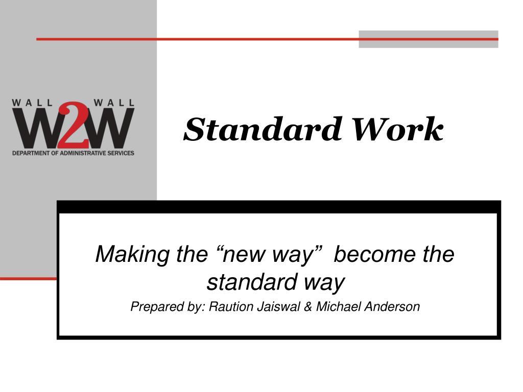 standard work l.