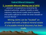 federal mineral categories