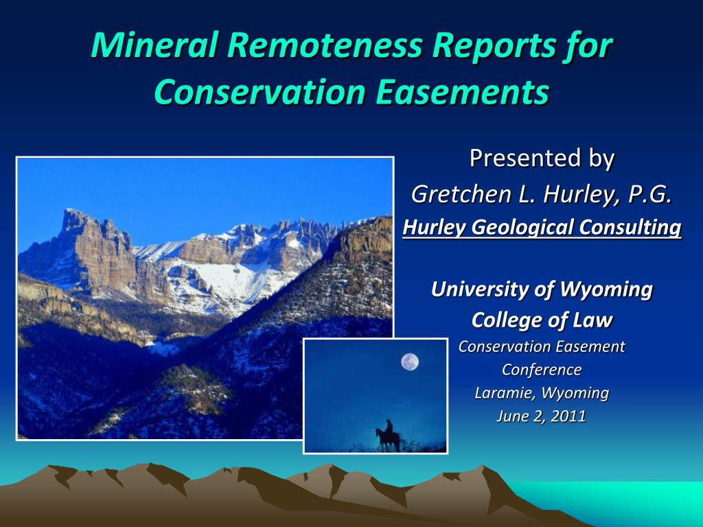 mineral remoteness reports for conservation easements l.