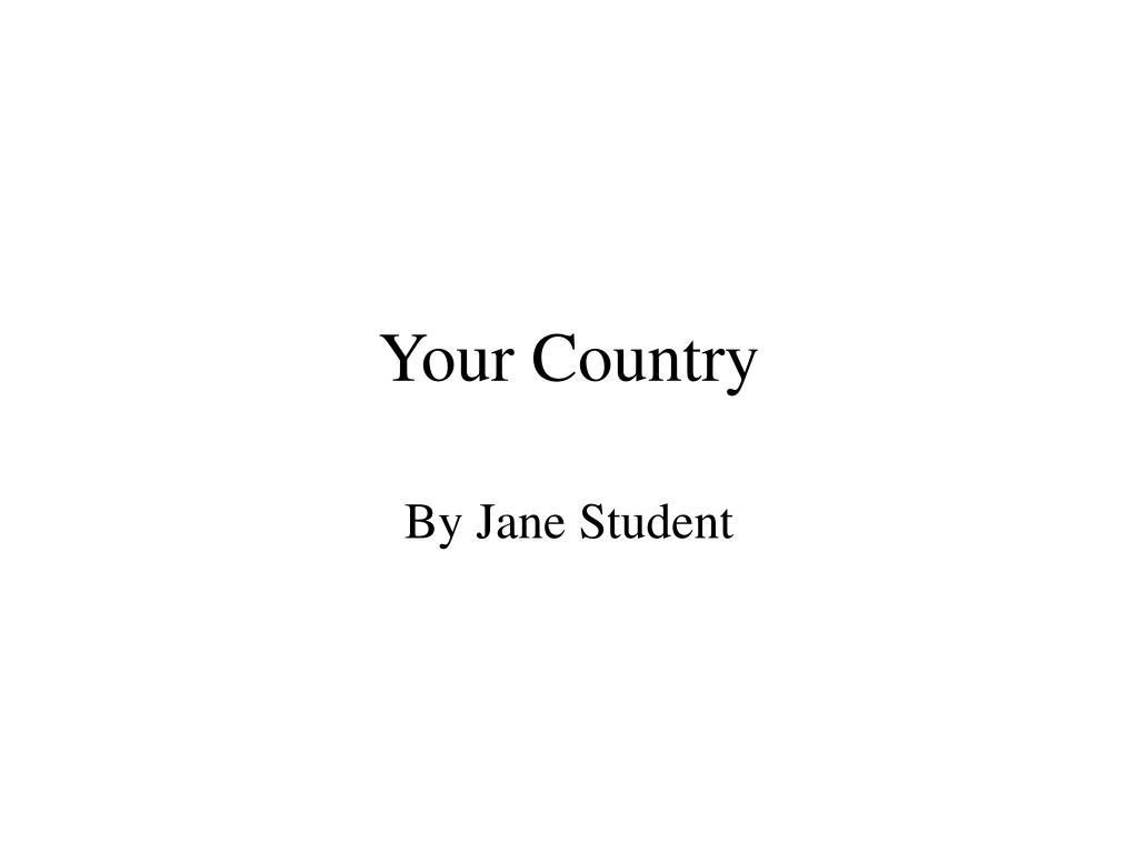 your country l.