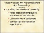 7 best practices for handling layoffs and downsizings bayer 2009