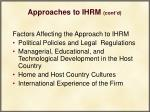approaches to ihrm cont d