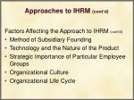 approaches to ihrm cont d40