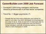 careerbuilder com 2009 job forecast