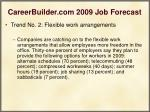 careerbuilder com 2009 job forecast21