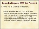 careerbuilder com 2009 job forecast25