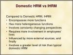 domestic hrm vs ihrm