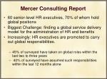 mercer consulting report