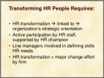 transforming hr people requires