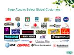 sage accpac select global customers