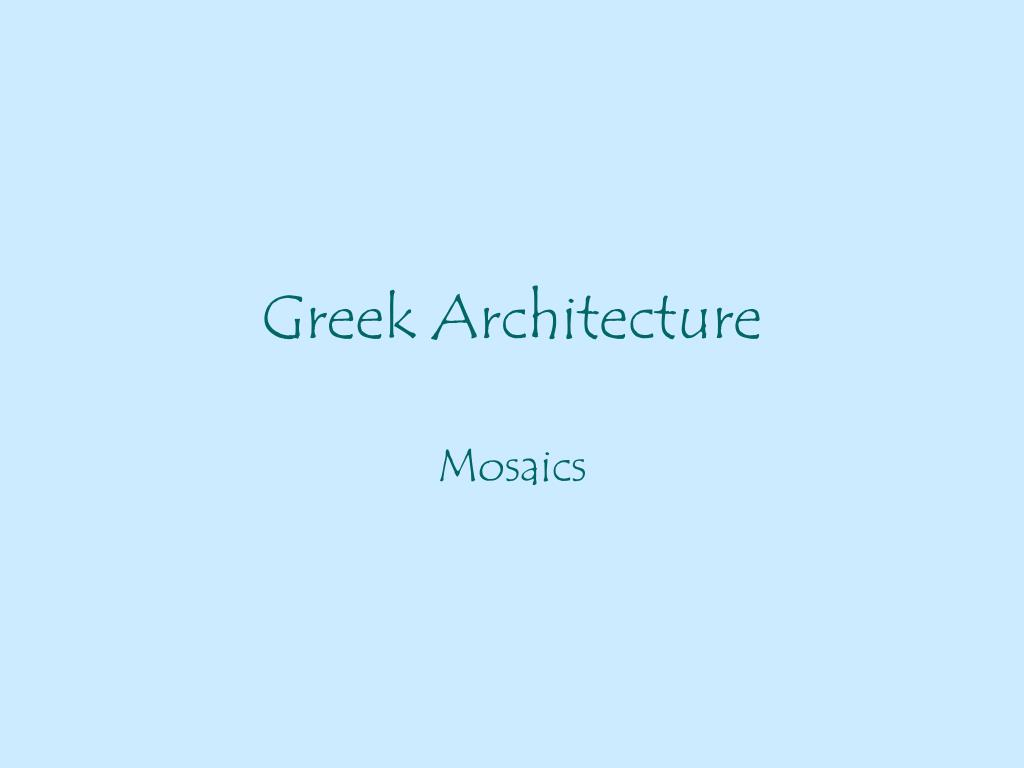 greek architecture l.