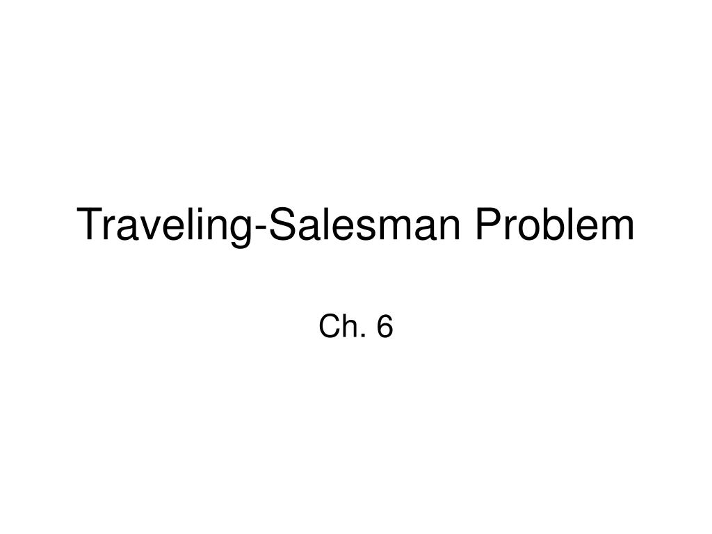 traveling salesman problem l.