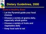 dietary guidelines 20007